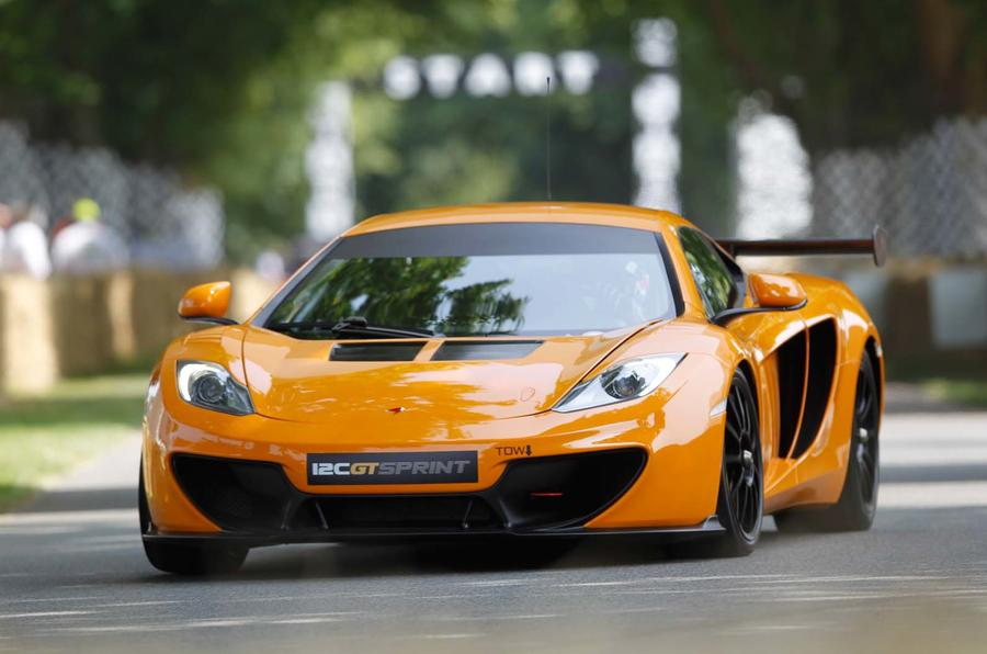 McLaren 12C GT Sprint track car shown