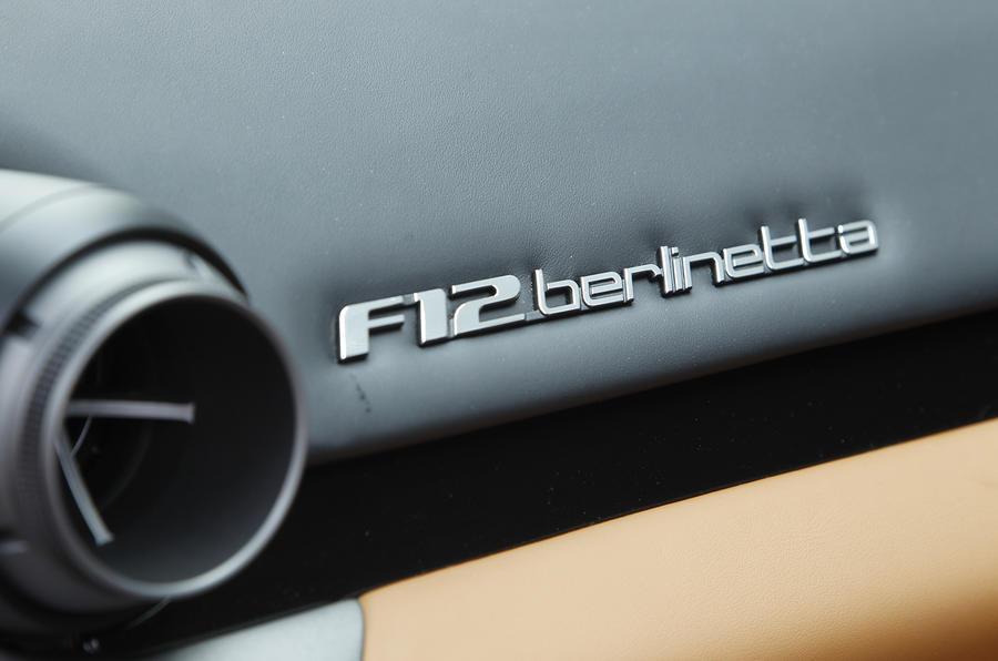 Ferrari F12 Berlinetta badging