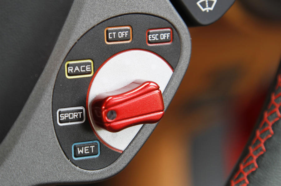 Ferrari F12 driving mode switch