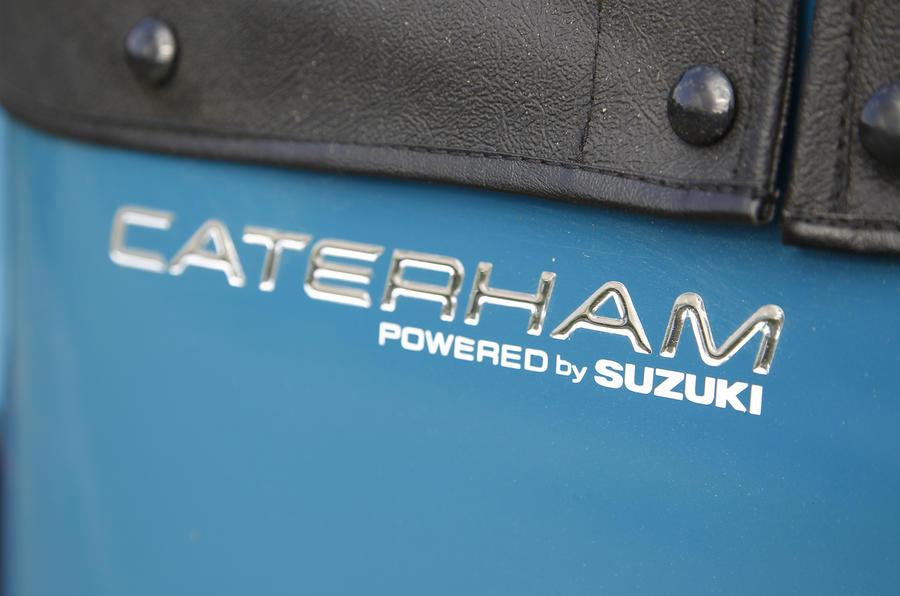 Caterham badging