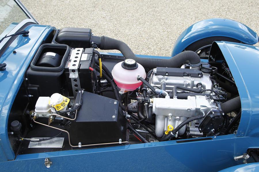 Three-cylinder Caterham 160 engine