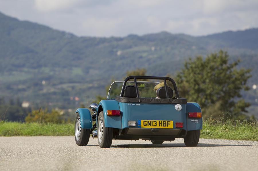 Caterham 160 rear hard cornering