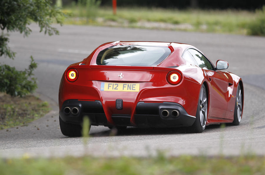 Ferrari F12 Berlinetta rear cornering