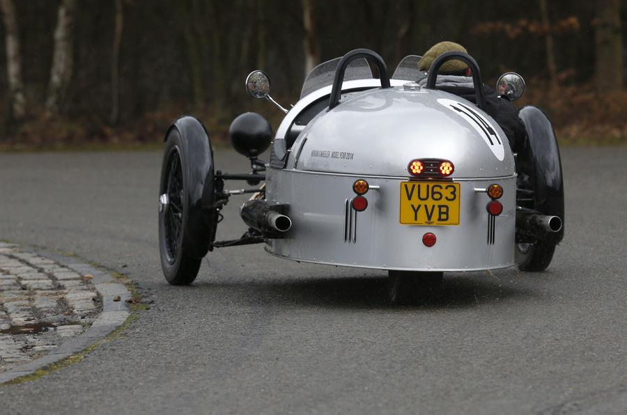 Morgan Three Wheeler rear cornering