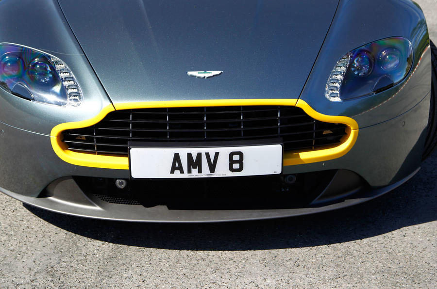 V8 Vantage N430 yellow grille