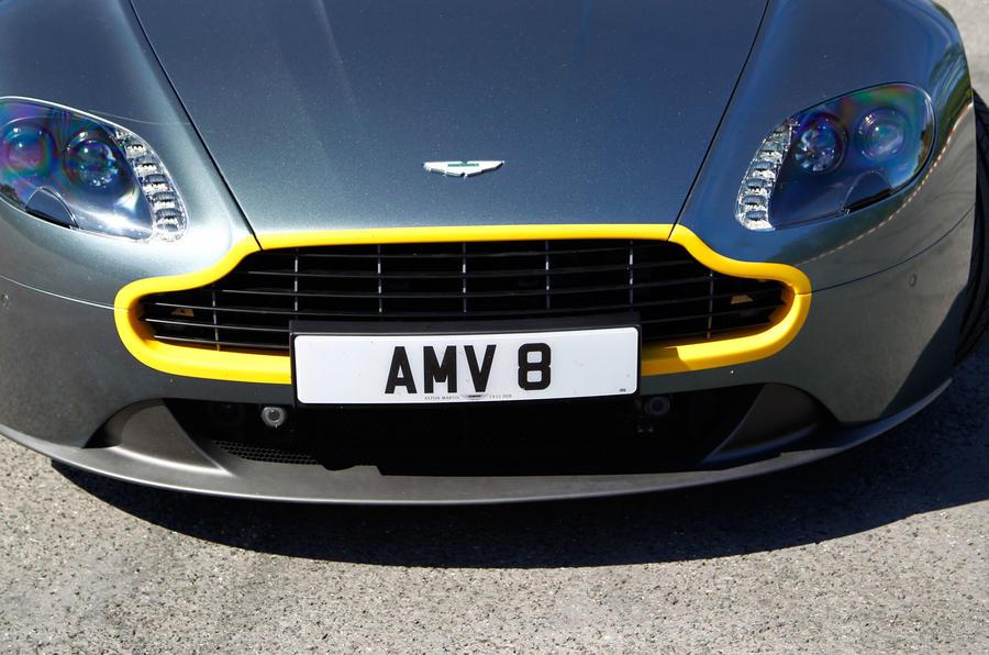 V8 Vantage N430 yellow grille