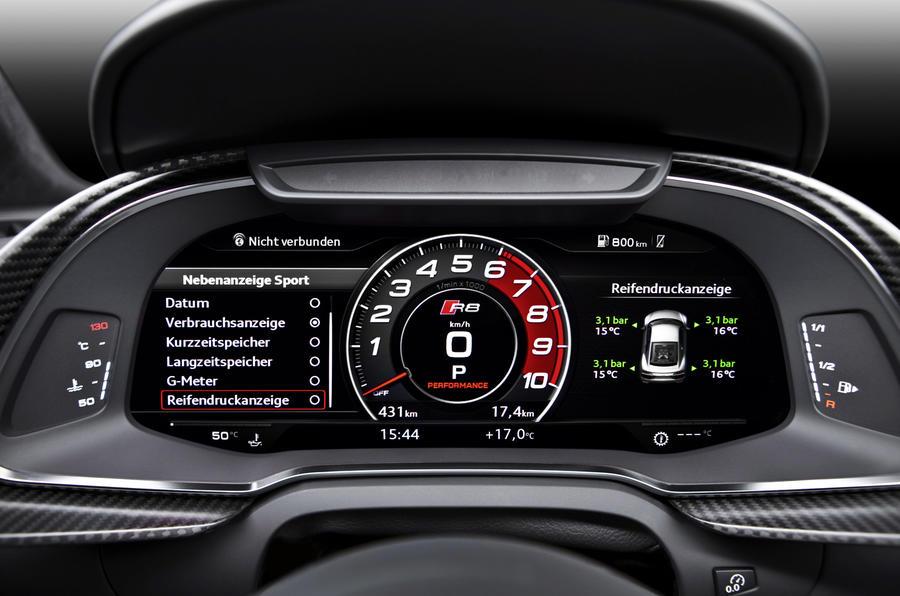 Audi R8's instrument cluster