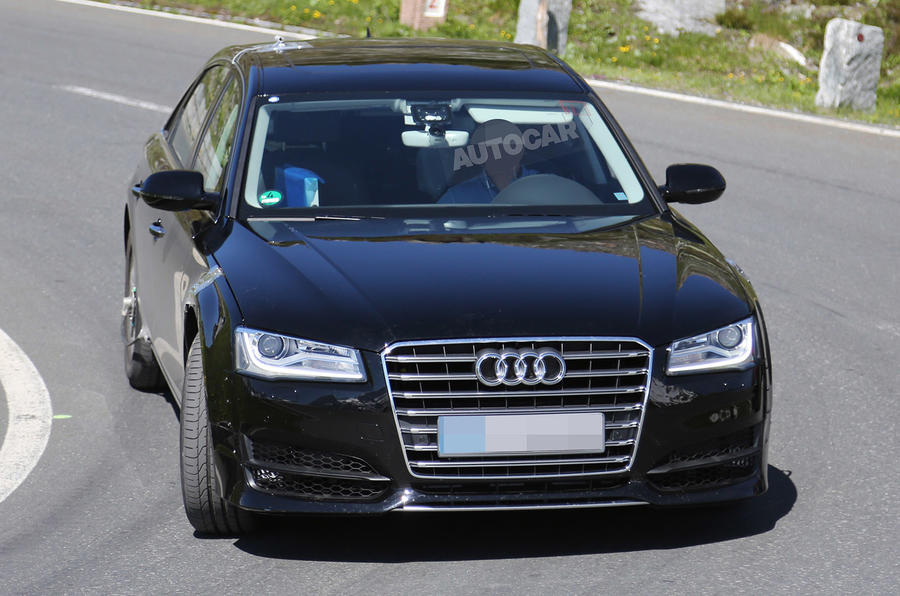Audi starts testing on next-generation A8