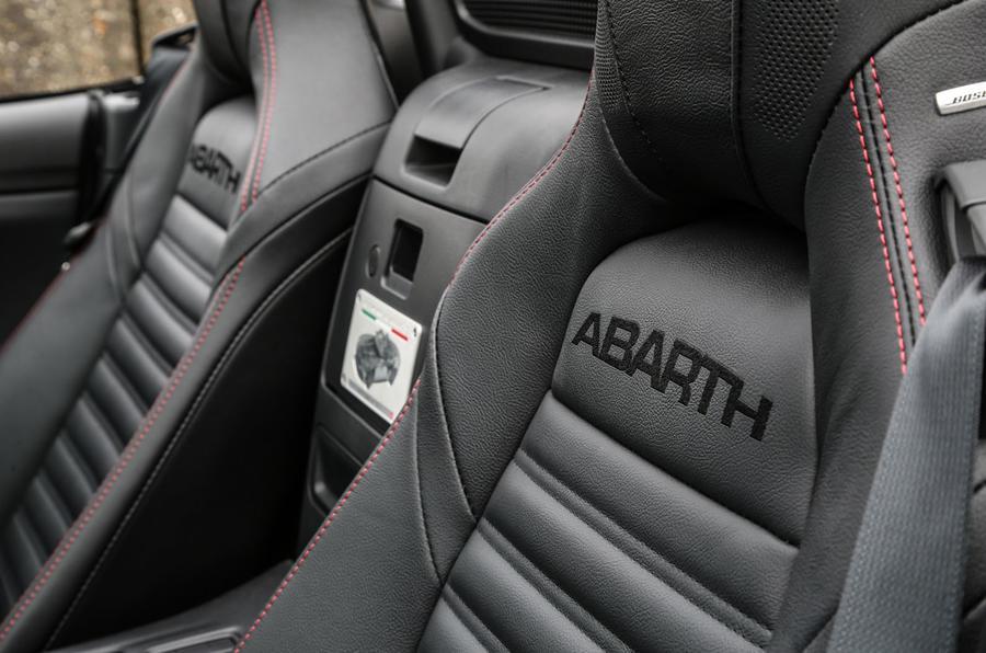 Abarth 124 Spider stitched seats