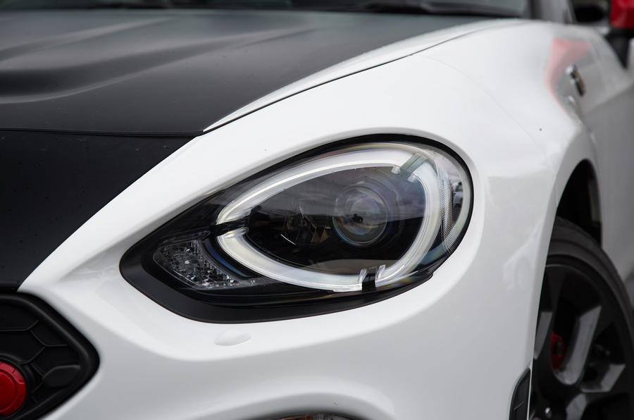 Abarth 124 Spider headlights