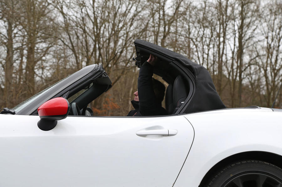 Abarth 124 Spider roof down