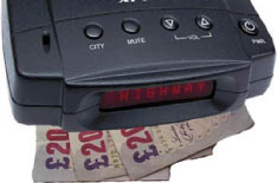No ban for speed camera detectors