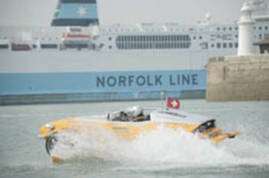 Swiss navy conquers the Channel in a car