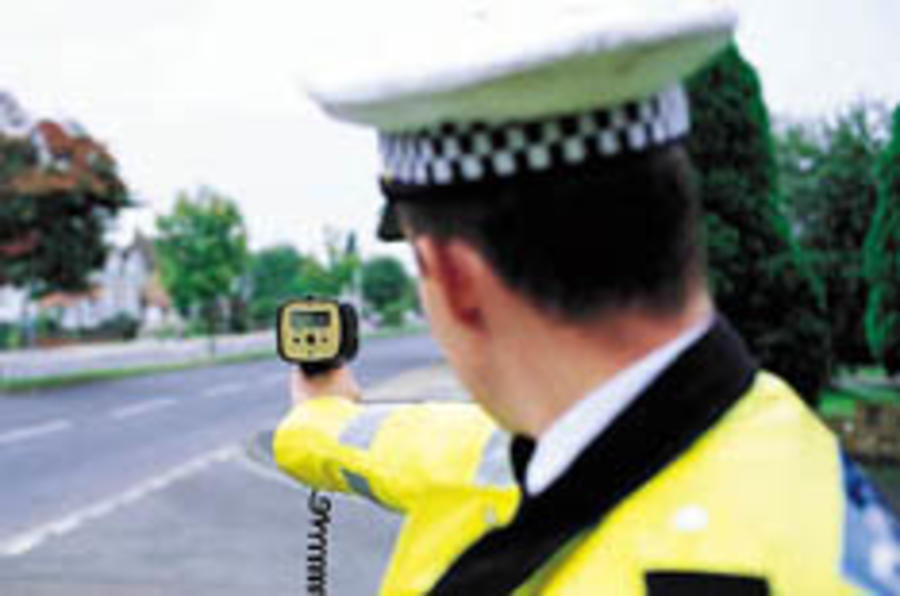'58mph brick wall' caught speeding