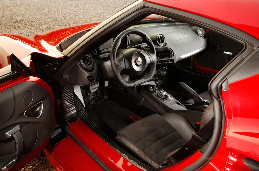 Alfa Romeo 4C's interior