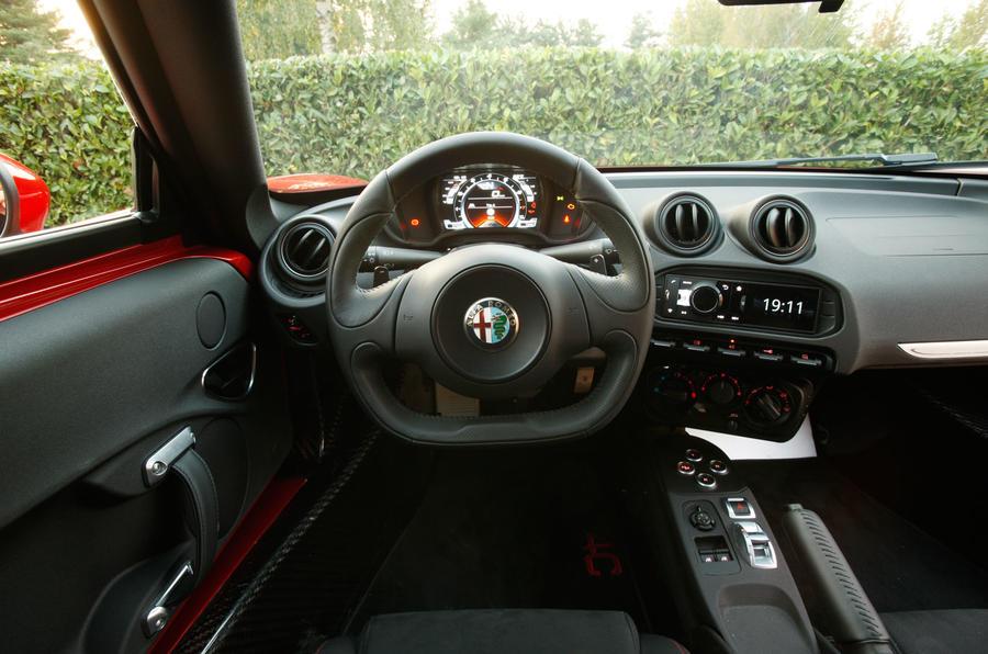 Alfa Romeo 4C's dashboard