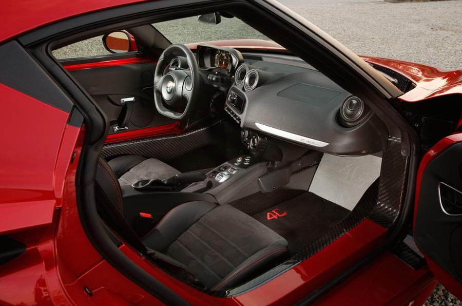 A view of the Alfa 4C's interior
