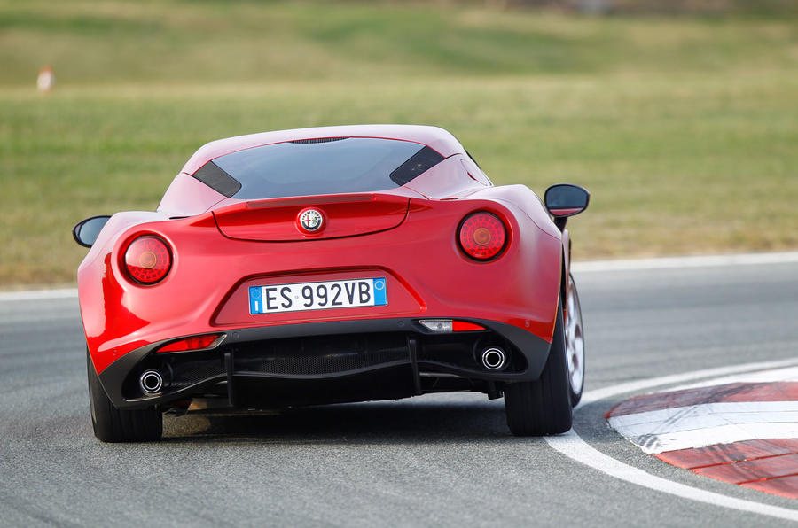 4C's 0-62mph time is 4.5 seconds