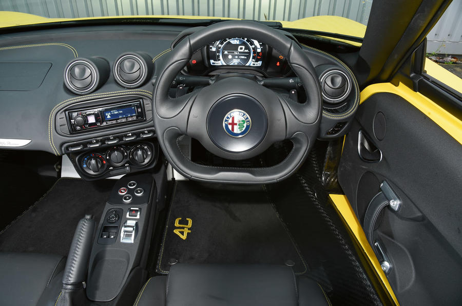 alfa romeo 4c spider interior autocar. Black Bedroom Furniture Sets. Home Design Ideas