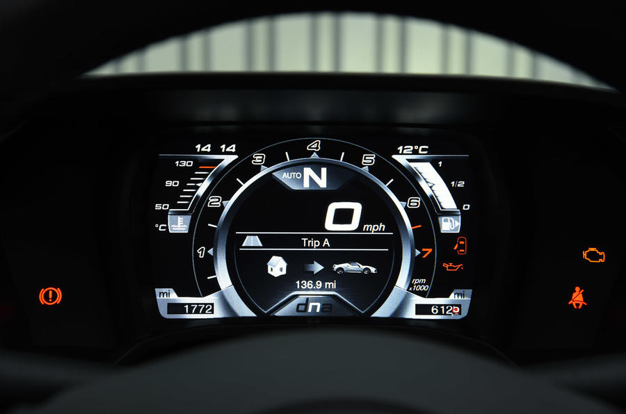 4C Spider digital instrument cluster