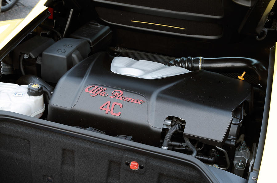 Alfa 4C Spider's 1.8-litre engine