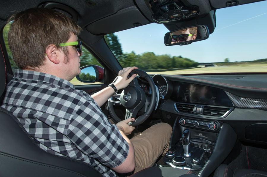 Driving the Alfa Romeo Giulia Quadrifoglio