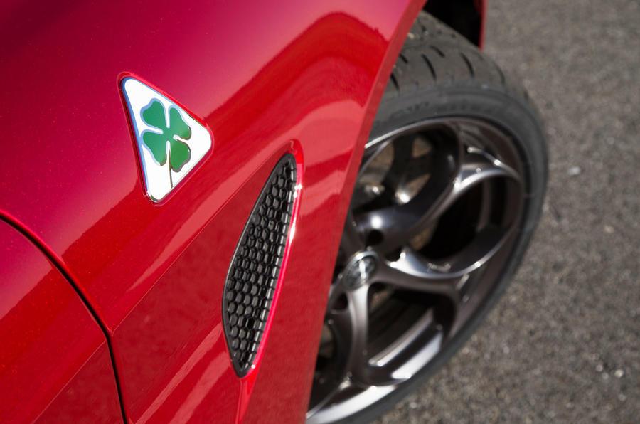 Alfa Giulia Quadrifoglio wheel arch