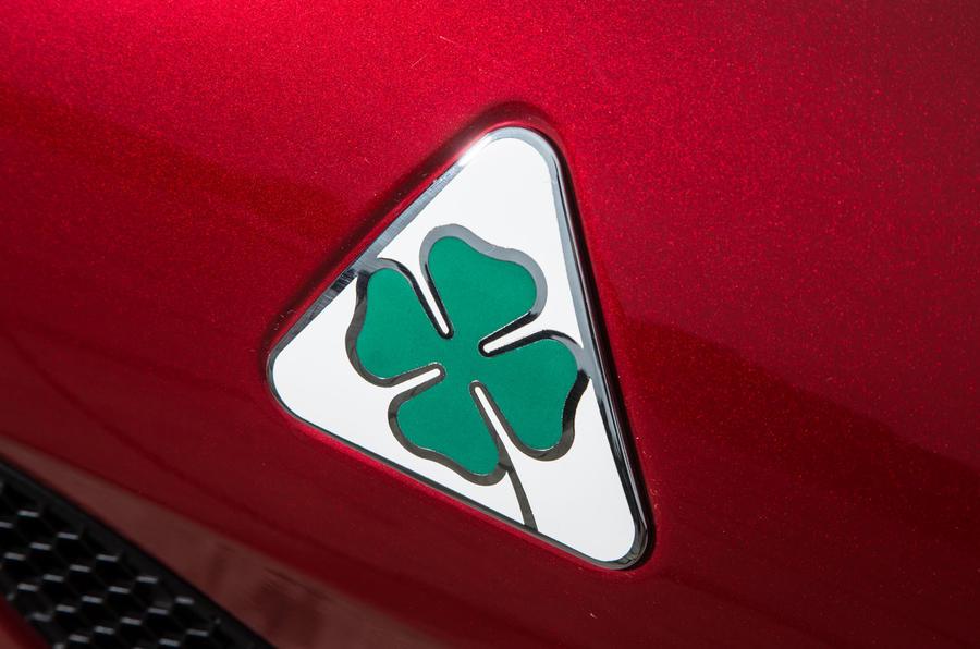 Alfa Romeo Giulia Quadrifoglio Cloverleaf badging