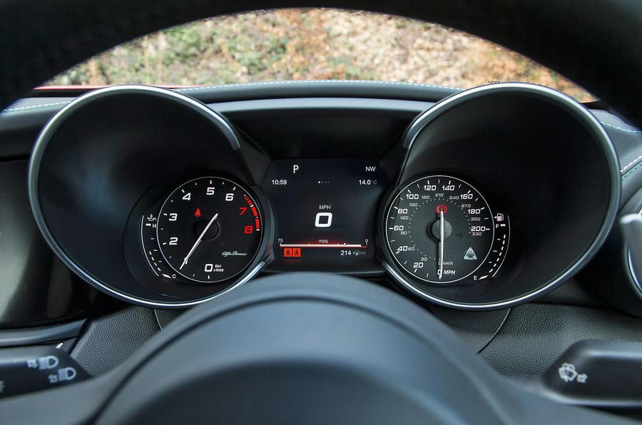 Alfa Romeo Giulia Quadrifoglio Instrument Cluster