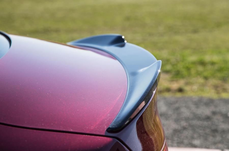 Alfa Romeo Giulia Quadrifoglio rear spoiler