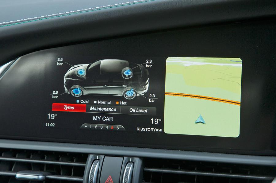 Alfa Romeo Giulia Quadrifoglio live car monitoring