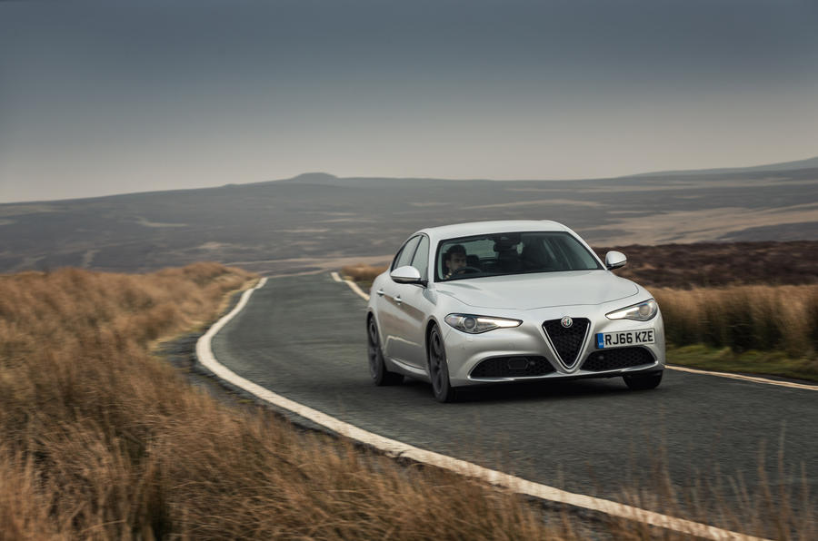 Alfa Romeo Giulia on the road