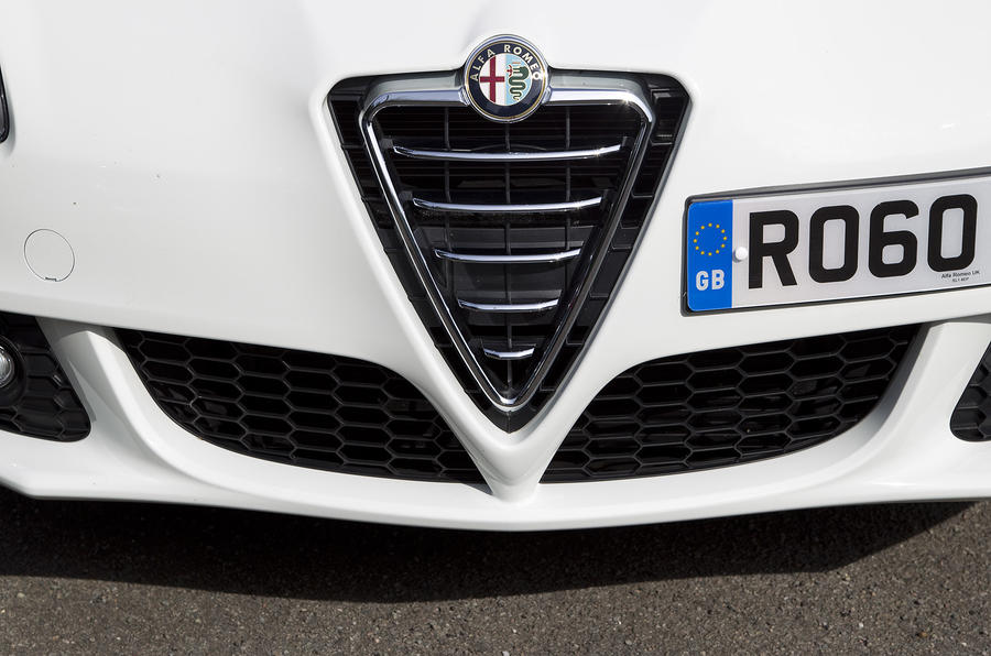 The numberplate is offset on Alfa Giulietta