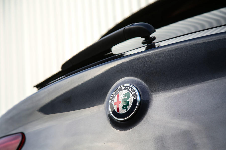 Alfa Romeo Stelvio boot badge
