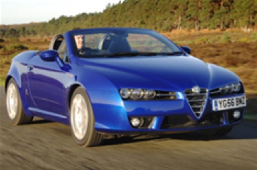 Alfa Spider goes on sale in UK