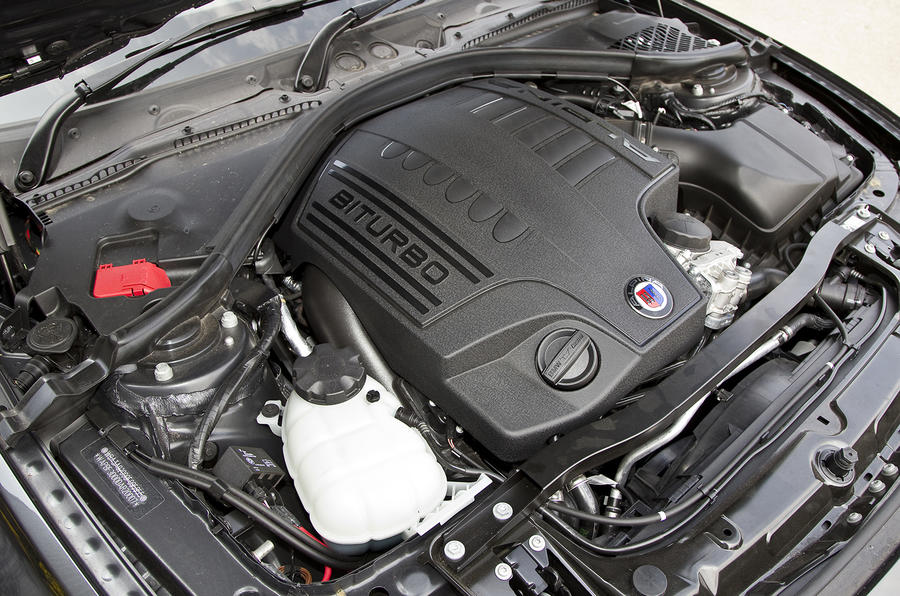 Alpina B3's twin turbocharged engine