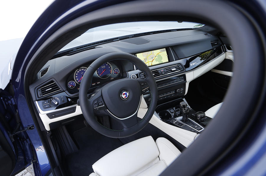 Driver's view of Alpina B5