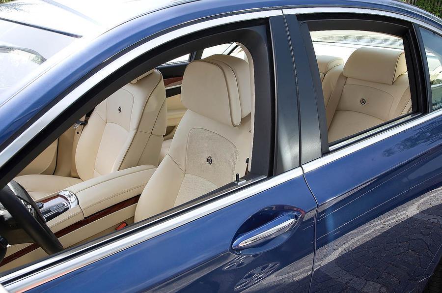 The luxury interior of the Alpina B7