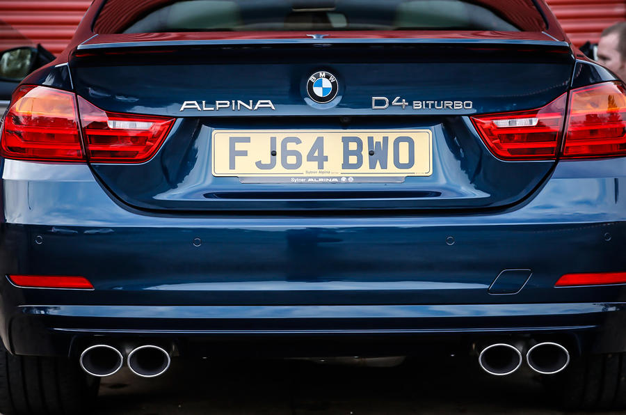 Alpina D4's quad-exhaust system