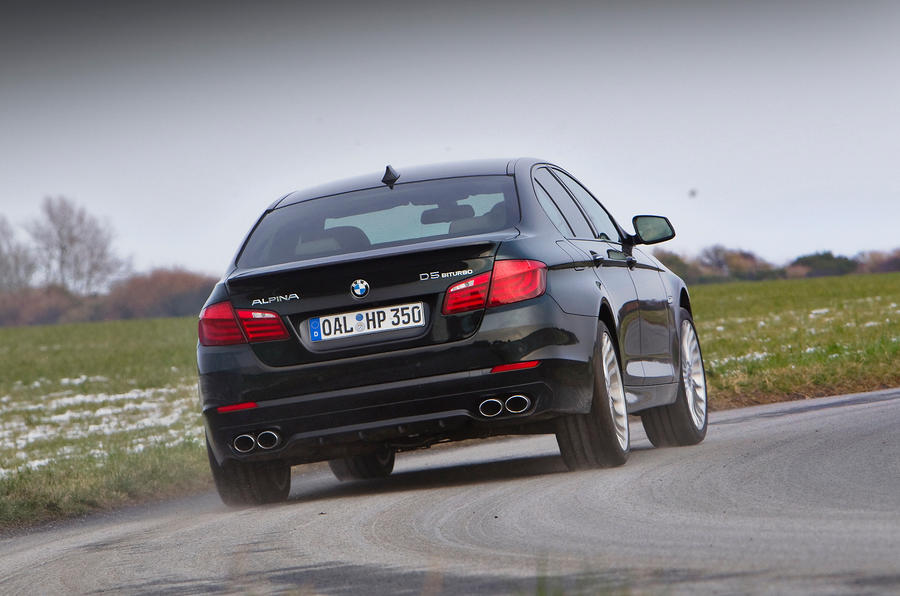Alpina D5's chassis is adjustable