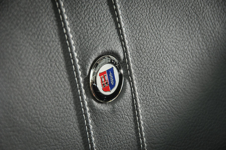 Alpina badges in XD3's leather seats