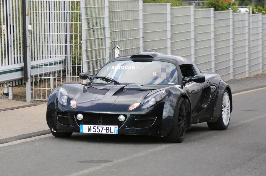 Renault Alpine sports car spotted at Nurburgring