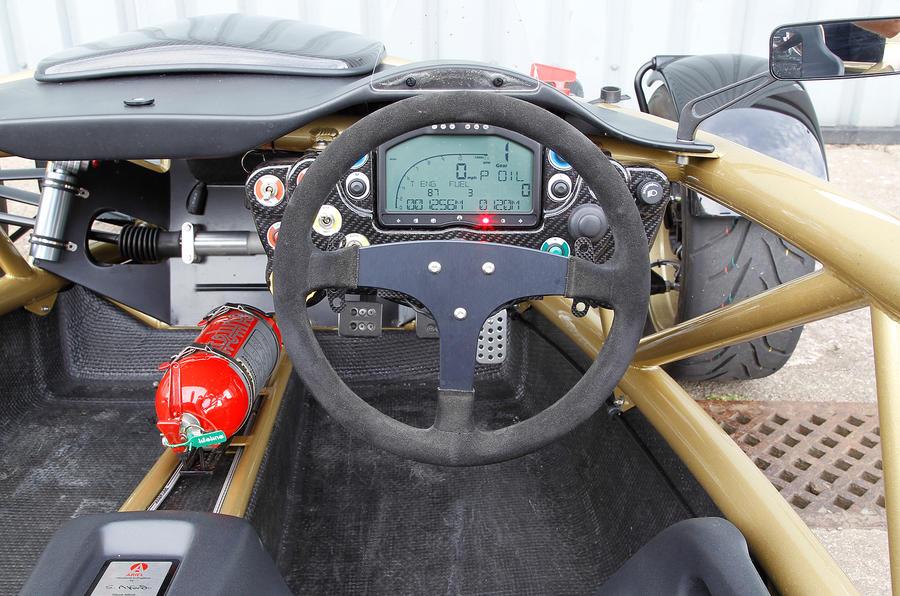Ariel Atom's steering wheel