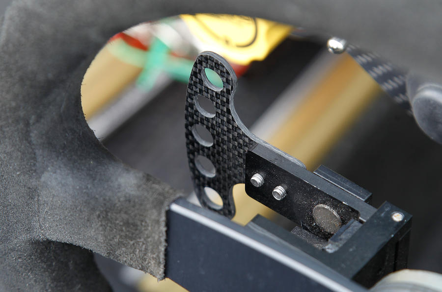 Gearchange paddle on the Ariel Atom