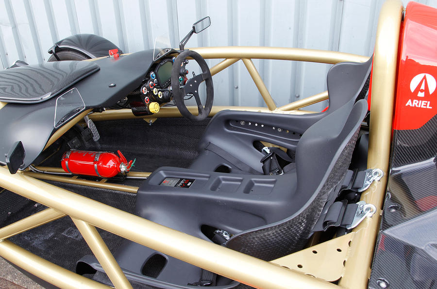 The Ariel Atom's spartan interior
