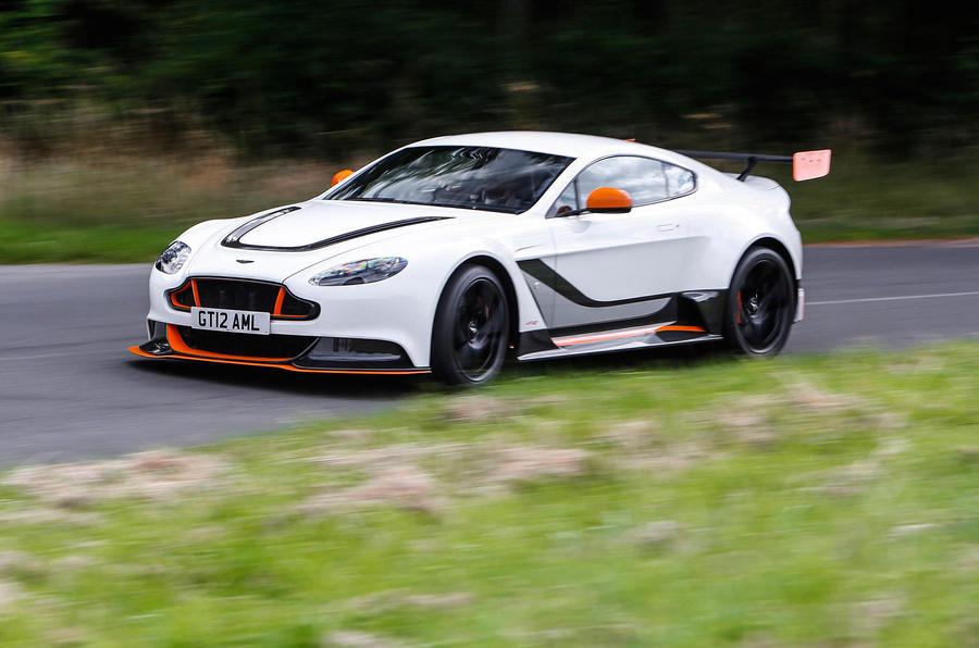 Aston Martin Vantage GT12 cornering