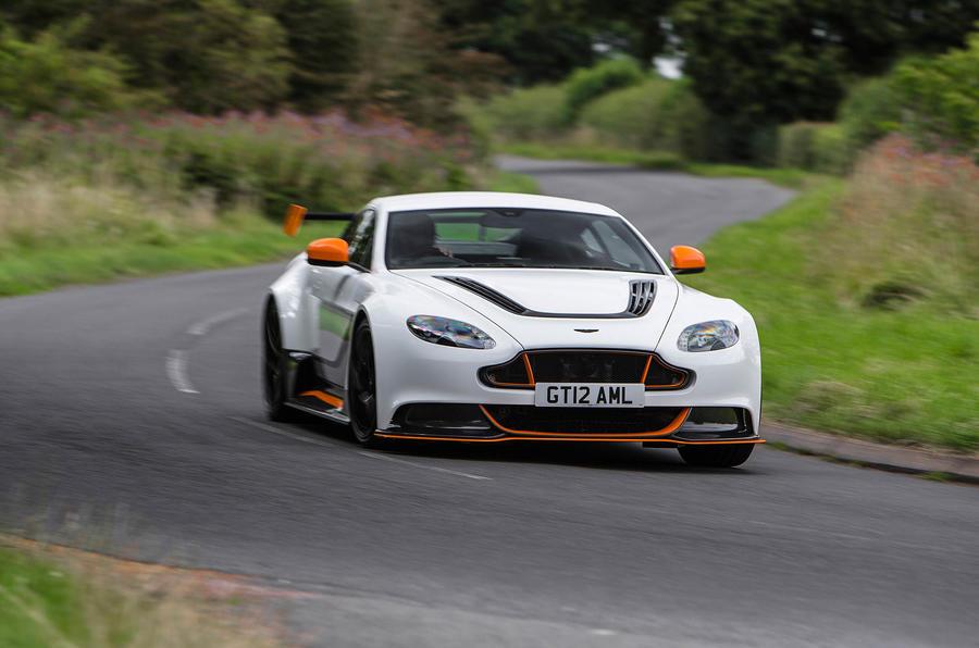 Aston Martin Vantage GT12 on the road