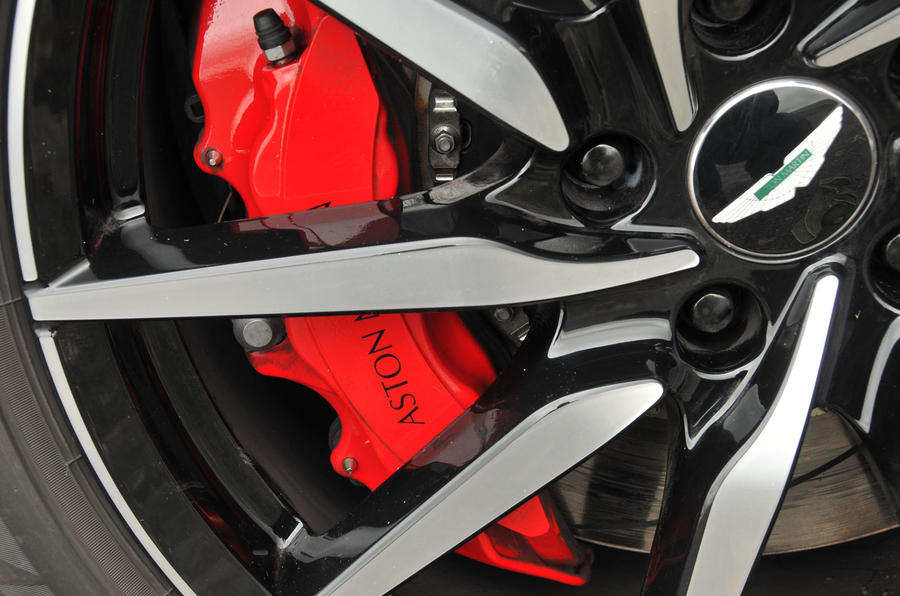 Aston Martin DB11 red brake calipers