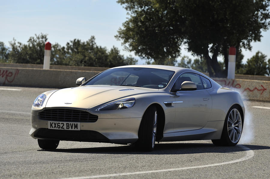 Aston Martin DB9 cornering