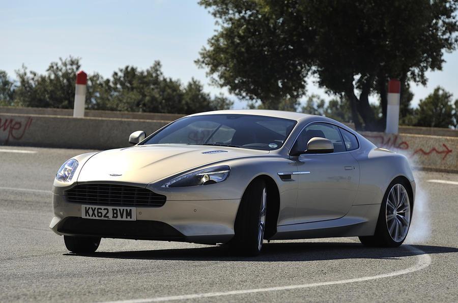 Aston Martin DB9 cornering
